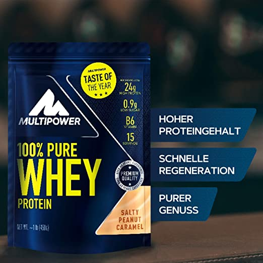 Multipower 100% Whey Protein Salty Peanut Caramel - 450 gr