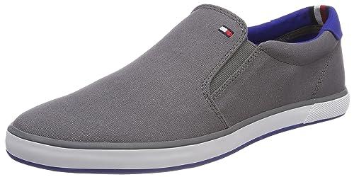 Tommy Hilfiger Iconic Slip On Sneaker, Zapatillas para Hombre, Gris (Steel Grey 039), 45 EU: Amazon.es: Zapatos y complementos