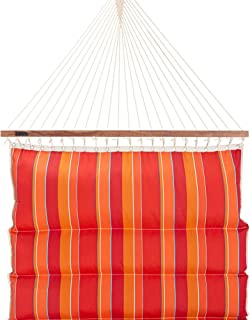 product image for Hatteras Hammocks Expand Tamale Sunbrella Pillowtop Hammock with Free Extension Chains & Tree Hooks, Handcrafted in The USA, Accommodates 2 People, 450 LB Weight Capacity, 13 ft. x 55 in.