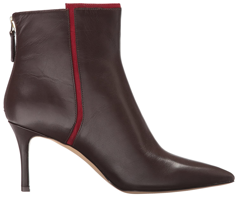 Nine West Women's Monsoon Ankle Boot B01MUWLCZB 7.5 B(M) US|Dark Brown/Red