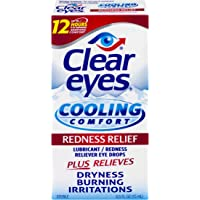 3-Pack Clear Eyes Cooling Comfort Redness Relief Eye Drops 0.5-oz