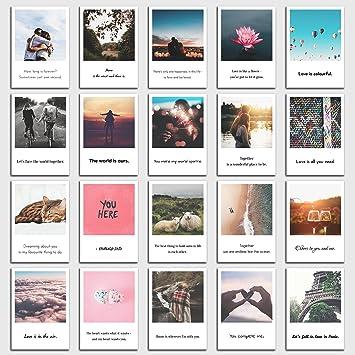 Postkarten Set Love 20 Schone Bilder Und Spruche Zum Thema Liebe Beziehung Valentinstag Im Retro Polaroid Style Von Individual Nomad Amazon De Burobedarf Schreibwaren