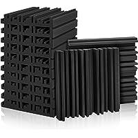 Juego de 12 paneles de espuma acústica para estudio, paneles de absorción de sonido, 5 x 30 x 30 cm