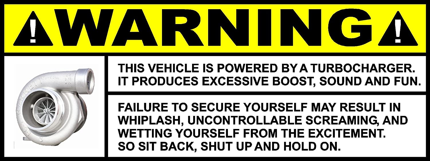 Amazon com warning turbo sticker decal vinyl funny car honda jdm audi evo mitsubishi import automotive