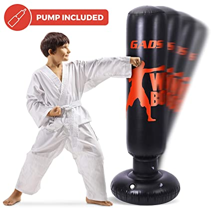 Gads Inflatable Punching Bag | Premium Heavy Bag for Kids & Adults | 62 inches Free Standing Bag for Boxing, Kickboxing & Stress Relief
