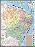 MAPA DA REGIÃO NORDESTE DO BRASIL - POLÍTICO