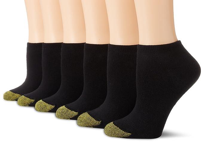Gold Toe Par de calcetines con forro polar para mujer Talla única Negro (6 Par
