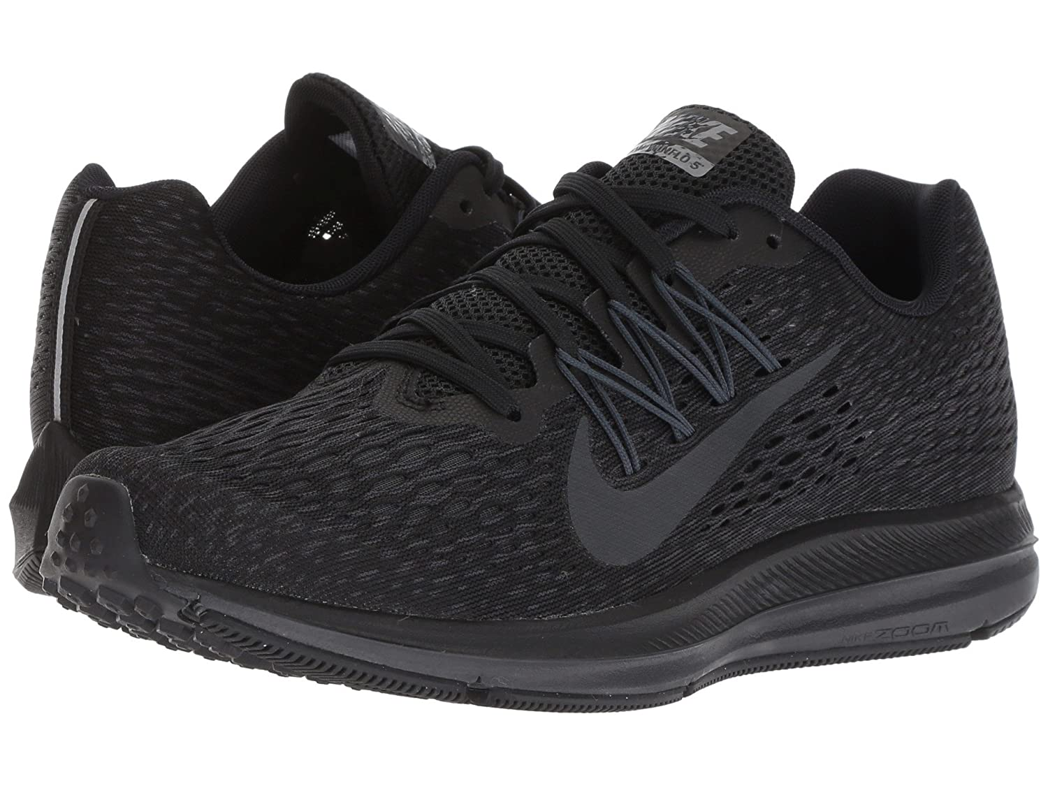 [NIKE(ナイキ)] レディーステニスシューズスニーカー靴 Air Zoom Winflo 5 Black/Anthracite 8 (25cm) B - Medium B07FB82MHT