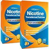 Aroamas Nicotine Patches to Quit Smoking - Step 1[2 Pack], Nicotine Transdermal Patches Step 1 [21 mg - 2 Pack, 42…