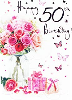 Happy 50th birthday greeting card for her ladies womens friend happy 50th birthday greeting card for ladies her age hallmark verse milestone m4hsunfo