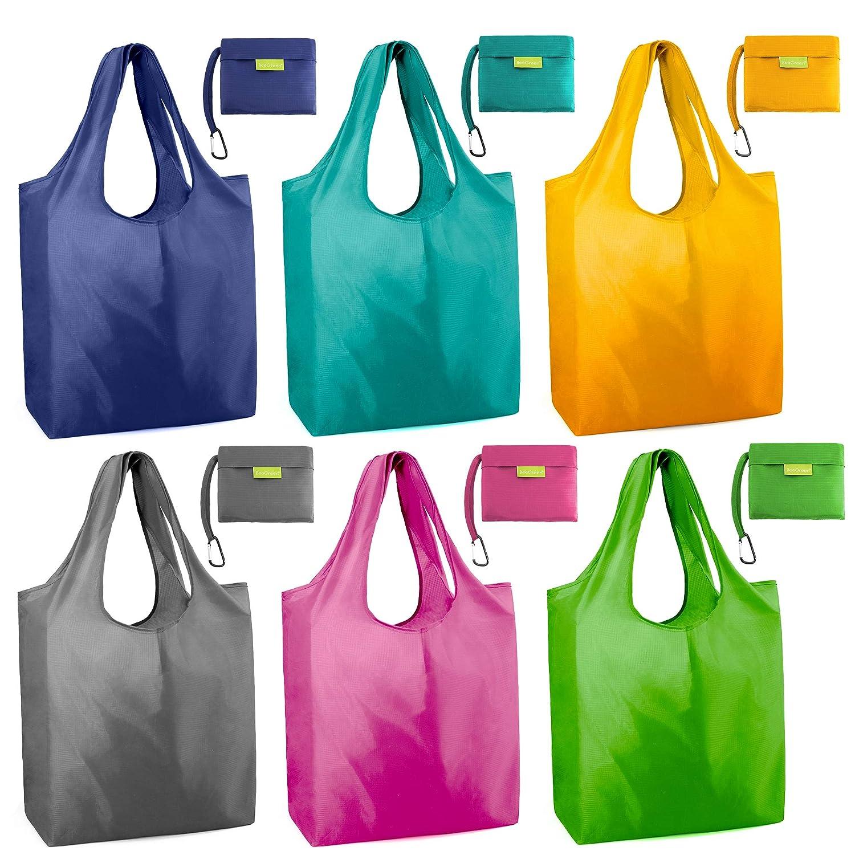Amazon.com: Bolsas de compras reutilizables y plegables para ...
