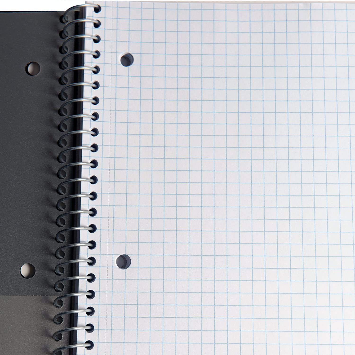 Black, White 100 Sheets 2//Pack Durable Poly Cover 8-1//2 x 11-Inches Stellar Spiral Notebooks Graph Ruled Paper 1 Subject