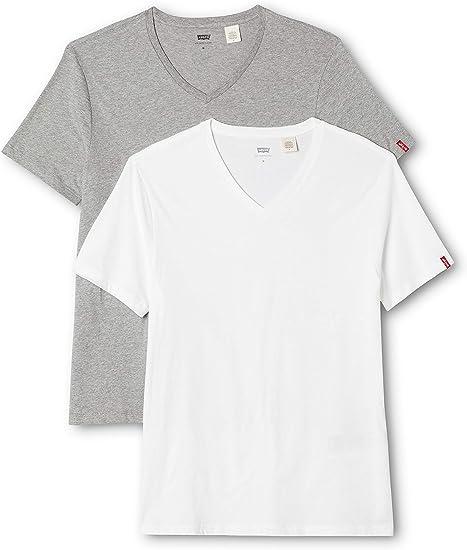 Hommes d/'été à manches courtes T-shirt basique blanc Tops ras du cou T-Shirts FASHION M-2XL