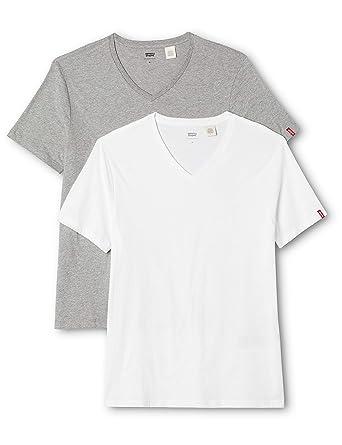 Levi s Herren T-Shirt Slim 2-er Pack V-Neck  Amazon.de  Bekleidung 344c74a74c