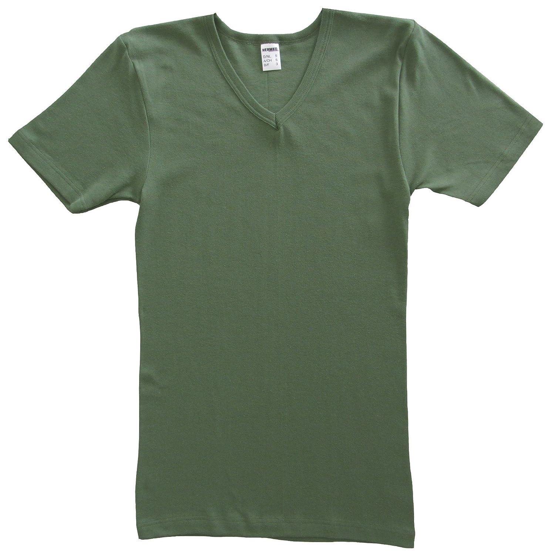 HERMKO 4880 3er Pack Herren kurzarm Business Shirt V-Neck (Weitere Farben)  größeres Bild 973d7b95c5