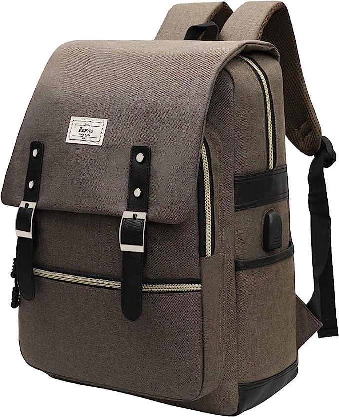 Captain Haddock Retro Japanese Tintin Backpack Daypack Rucksack Laptop Shoulder Bag with USB Charging Port