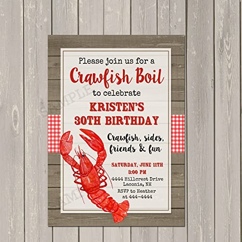 Amazoncom Crawfish Boil Low Country Boil Birthday Party Invitation