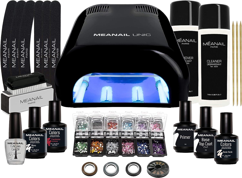 Lampara LED UV Secador de Uñas Esmalte Semipermanente Pintauñas Decoracion de Uñas Kit Manicura Pedicura Nail Edition Deluxe Black: Amazon.es: Belleza