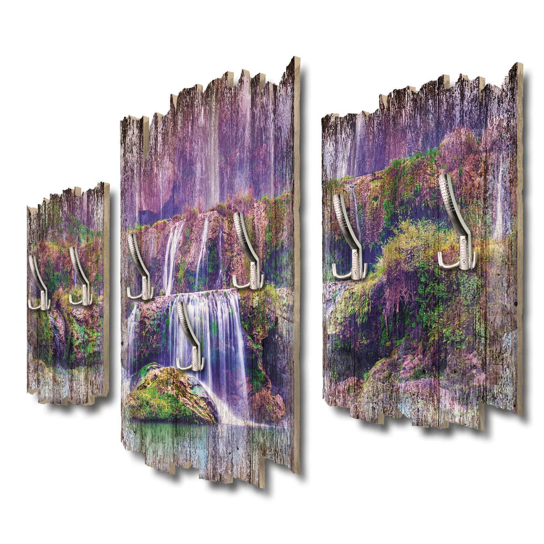 Kreative Feder Lila Wasserfall Designer Wandgarderobe Flurgarderobe Wandpaneele 95 x 60 cm aus MDF DTGH072