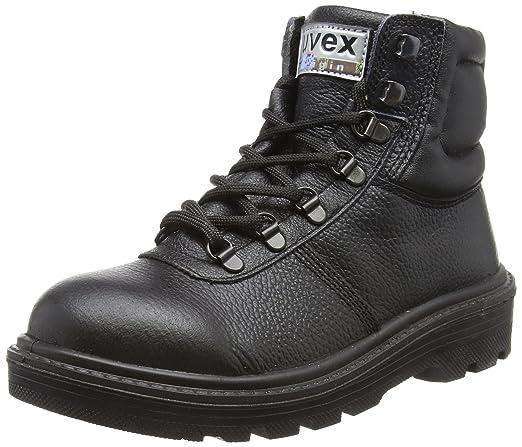 Uvex 8458.9 - 5 Clyde cordones botas de seguridad con Hydroflex 3d plantilla de espuma, S2, UE 38, tamaño 5, Negro: Amazon.es: Industria, empresas y ciencia
