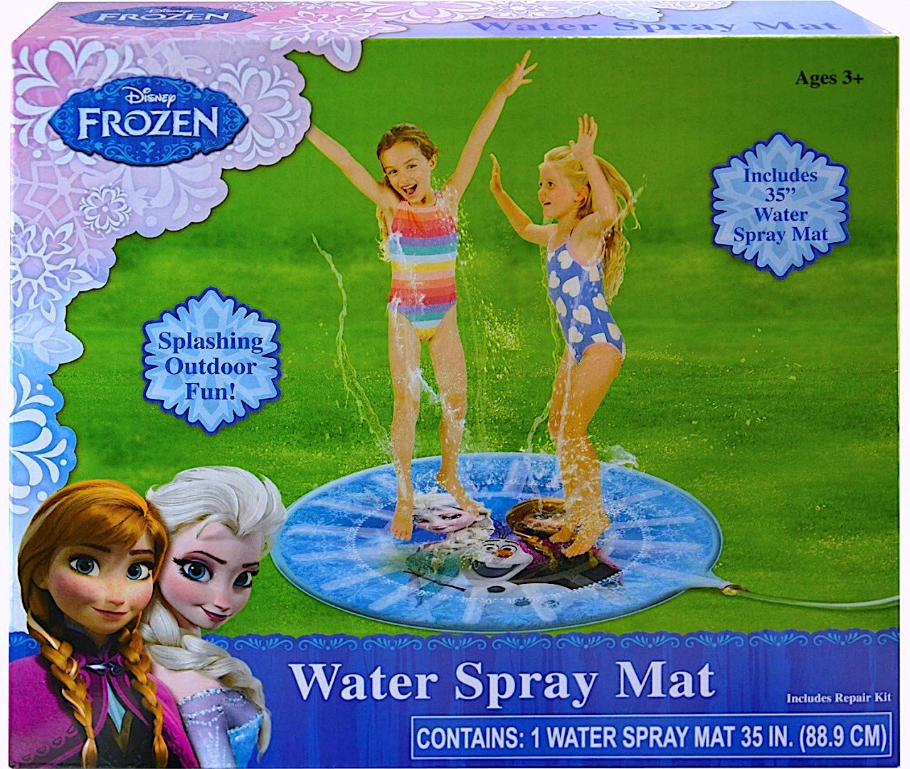 Disney Frozen Water Spray Mat 35'' Splashing Outdoor Fun