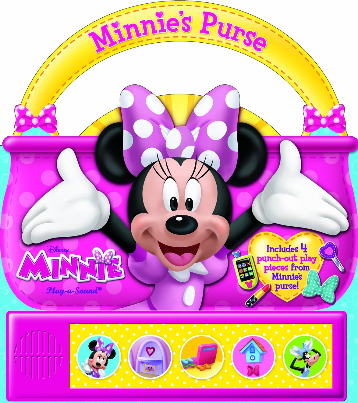 Disney Minnie: Minnie Mouse Purse Play A Sound Board Book Pi Kids 9781450861731 (Minnie: Play A Sound) by Publications International, Ltd