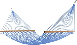 product image for Nags Head Hammocks NH14CHB Extra-Wide Coastal Blue Duracord Rope Hammock with Free Extension Chains & Tree Hooks, HANDCRAFTED in the USA, Accommodates 2 People, 450 LB Weight Capacity, 13 ft. x 60 in.