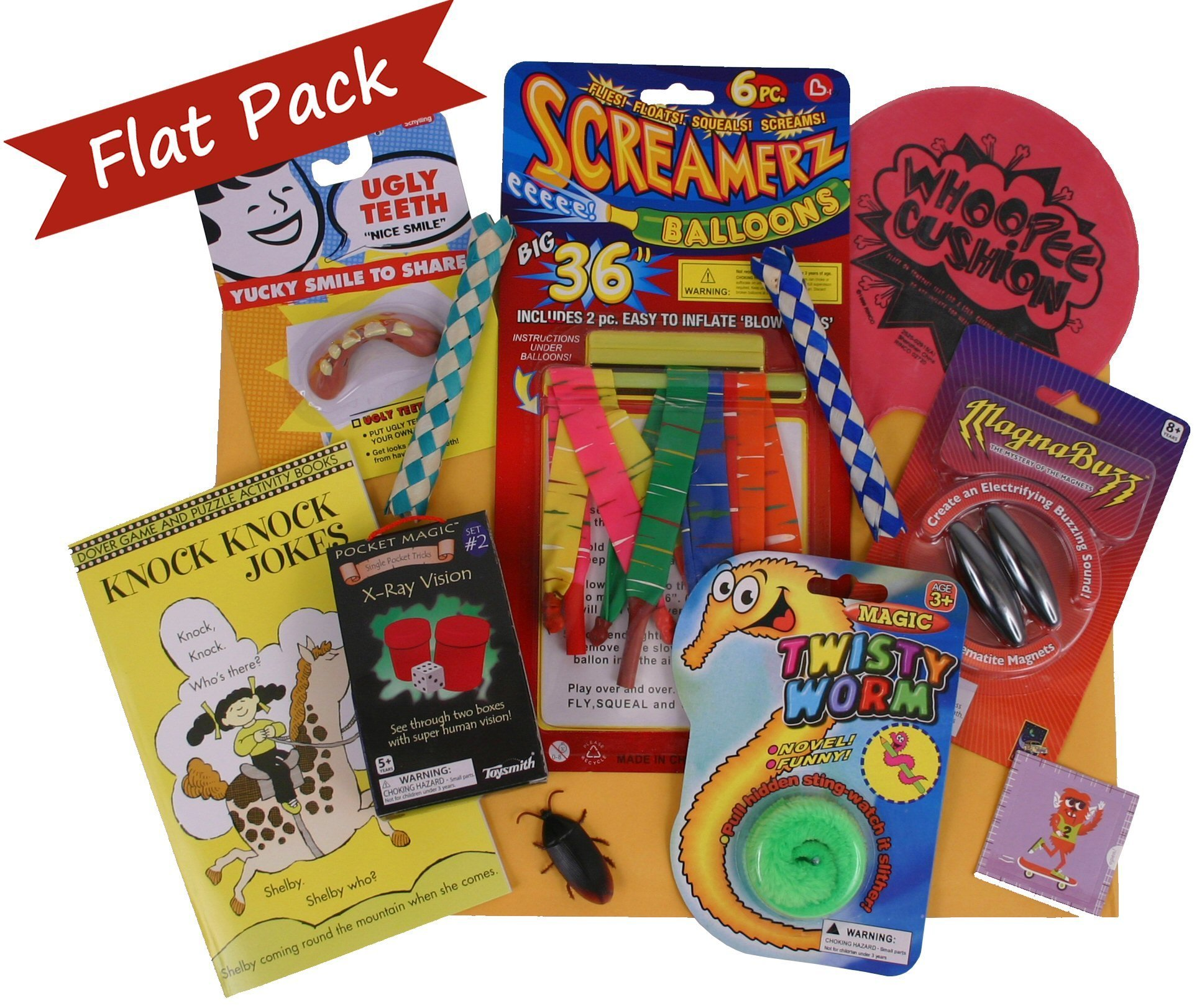 Beyond Bookmarks Jokester's Flat Pack Gift with Fun Gags and Jokes to Play at Summer Camp, Birthday Parties or Anytime
