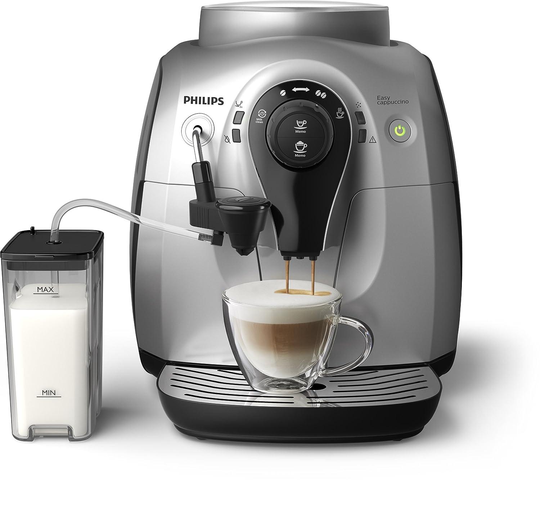 Philips Hd865251 Push Button 2100 Series, Cappuccino Coffee Machine, Silver