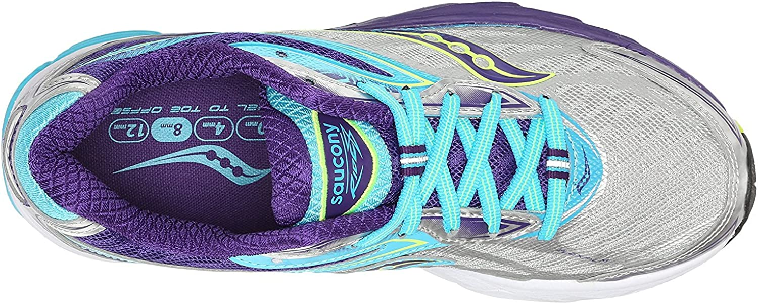 Saucony Ride 8, Zapatillas de Running para Mujer, Multicolor (Silver/Purple/Blue), 37 EU: Amazon.es: Zapatos y complementos