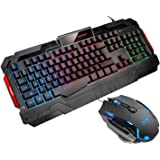 USB Gaming Mouse Gaming Keyboard Combo