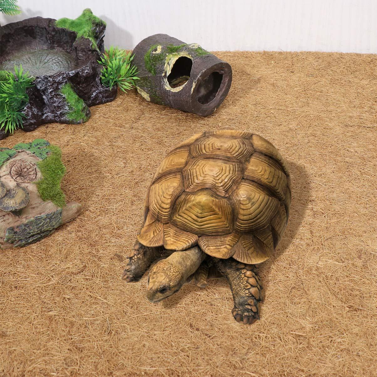 POPETPOP Estera de Fibra de Coco para terrario de Reptiles Suave y c/ómoda Espesar Alfombra para Mascotas Alfombra de Revestimiento Almohadilla de Reptil para Iguanas lagartijas Anoles