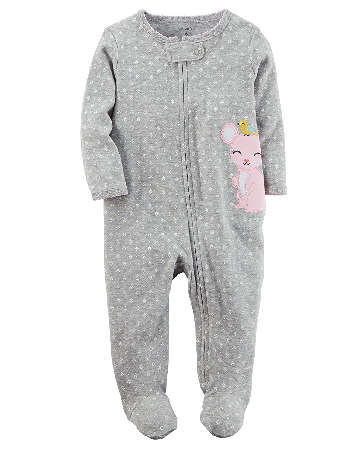 f0c6ee953a William Carter s Company Carter s Set of 2 Baby Girls Cotton Footed Zip-up  Sleeper Sleep and Play Pajamas (3 Months