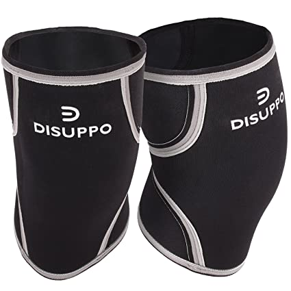bb64106697 Knee Sleeves (1 pair), 7mm Thick Neoprene Compression wraps Knee Braces for  Weightlifting, Cross Training, CrossFit, Powerlifting, Bodybuilding, Squats,  ...
