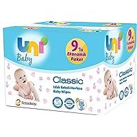Uni Baby Classic Islak Havlu 9'lu, 504 Yaprak