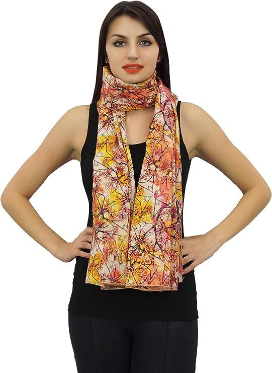 TALLA 28 x 72 pulgadas. Phagun india cuello de las mujeres del abrigo de la bufanda de impresión digital 100% algodón ligero, mantón, bufandas largas de la estola-28x72 pulgadas