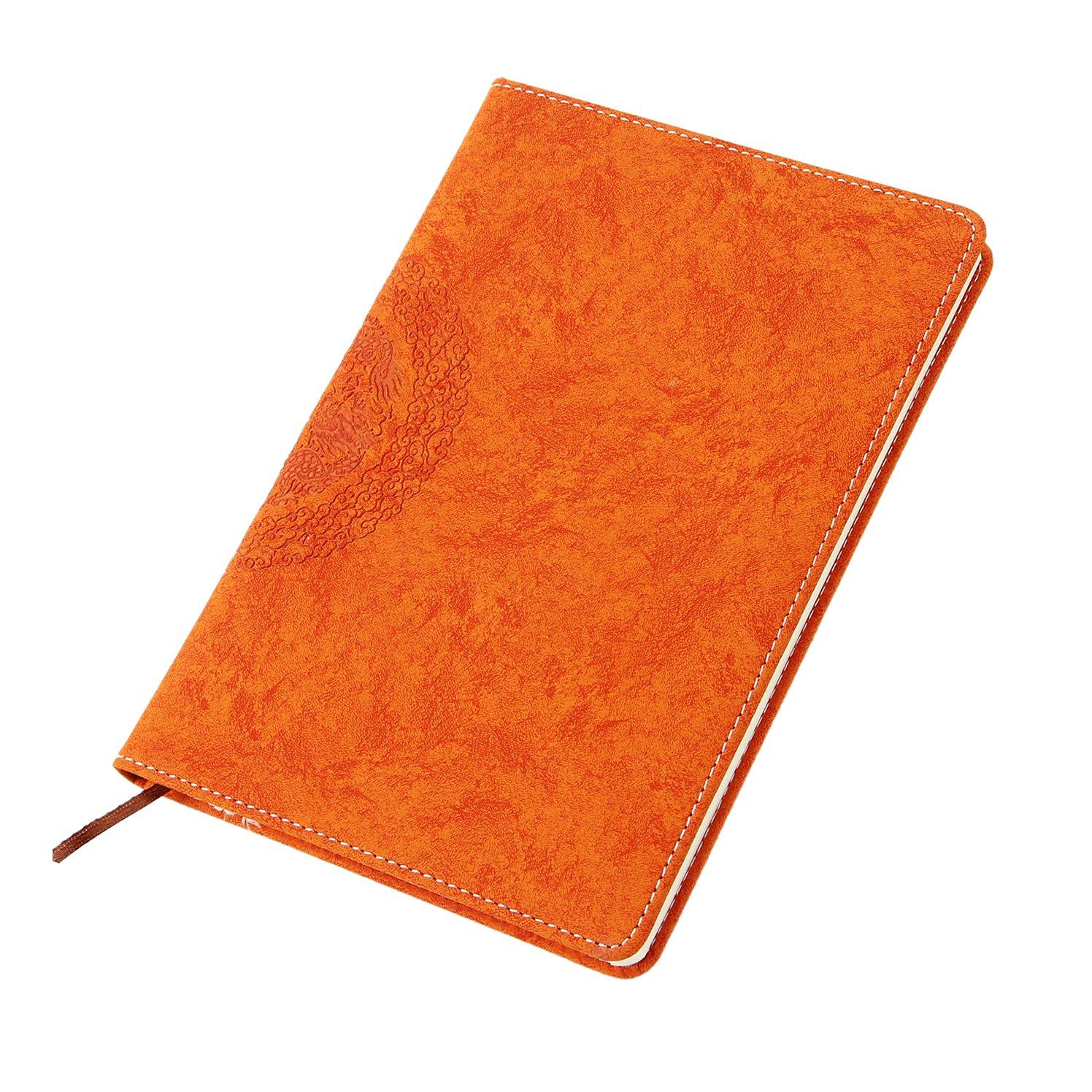 A5 Libreta Bonitas Rayado para Escribir, YAOHU Cuaderno Lineas A5 Bloc de Notas Retro Dragón Chino Cuaderno de Viaje Cuero Vintage Lined Journal Notebook, Regalo hombre Mujer Niños, Azul