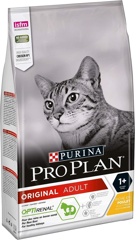 PURINA Pro Plan Comida Seco para Gato Adulto con Optirenal, Sabor Pollo - 1.5 Kg