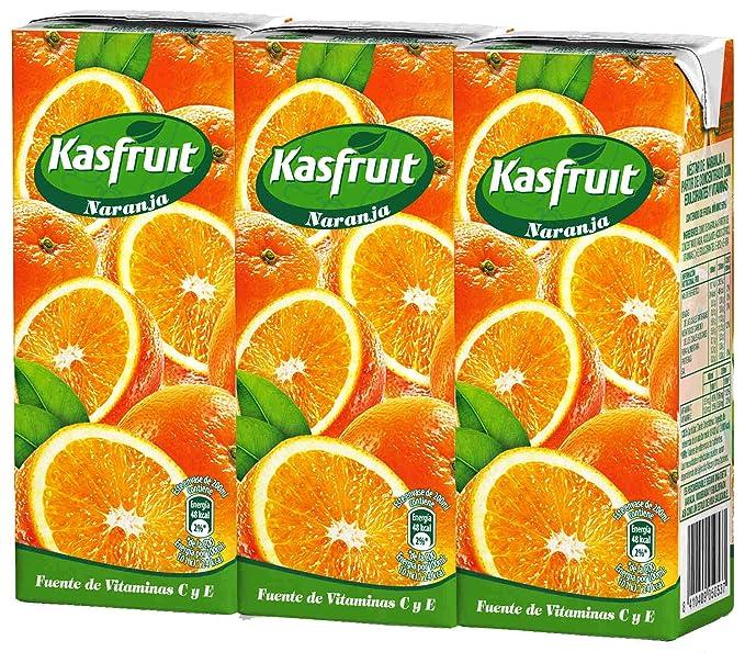 Kasfruit - Refrsco Sabor Naranja - 3 X 200 ml