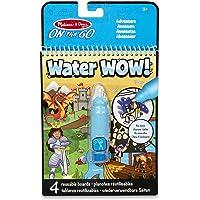 Melissa & Doug On the Go Water Wow! Bloc de Actividades de Aventuras (Libro Reutilizable de Colorear Revela con Agua, Pluma de Agua Recargable)
