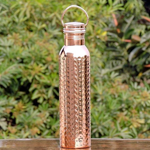 Amazon.com: HealthGoodsIn - Botella de agua de cobre puro ...