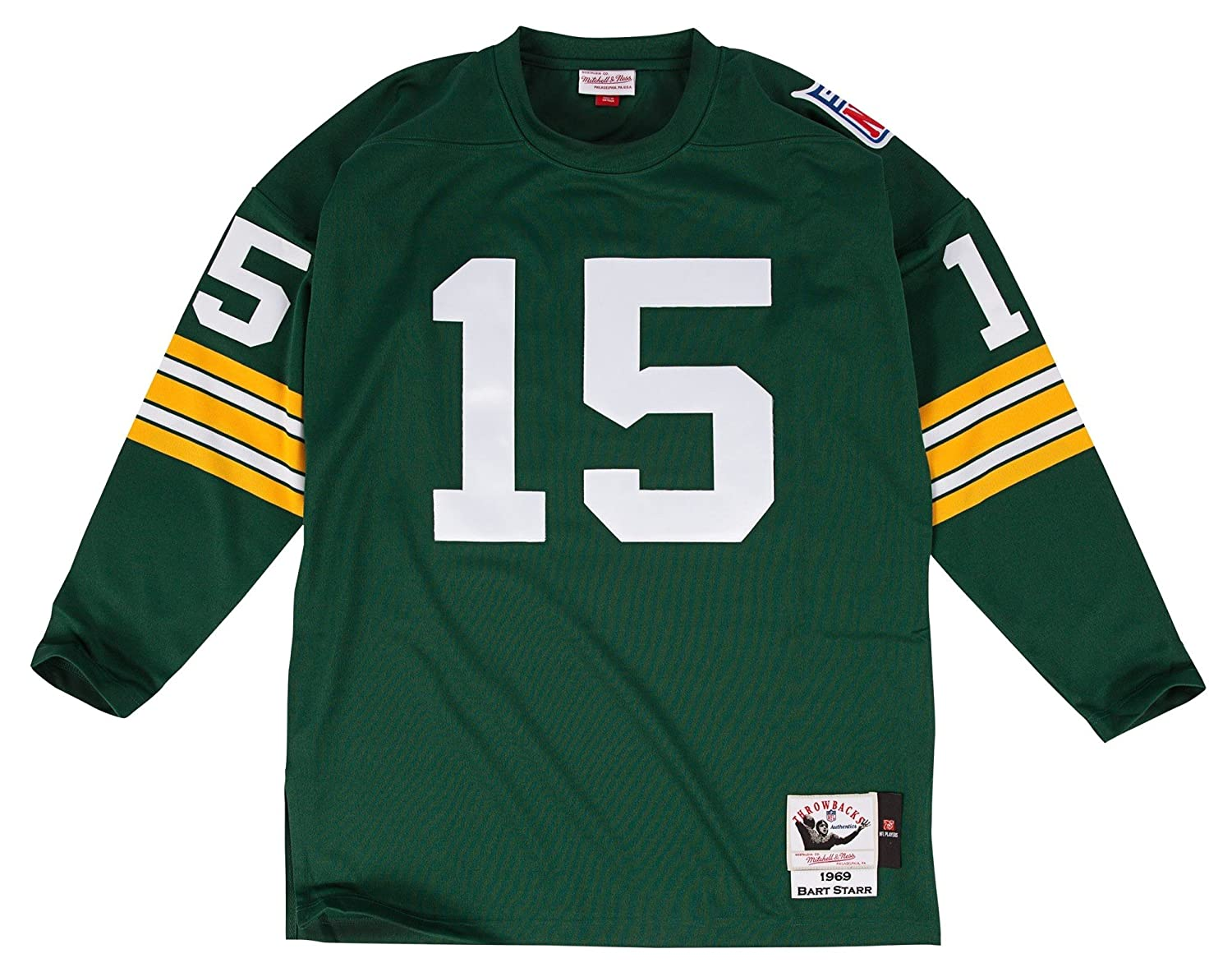 1cfeb02eaa1 Amazon.com   Mitchell   Ness Bart Starr Green Bay Packers Authentic 1969  Green NFL Jersey   Sports   Outdoors