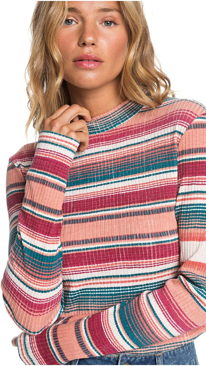 Roxy Womens Smooth Move Long Sleeve Rib Knit Top for Women Arjkt03276