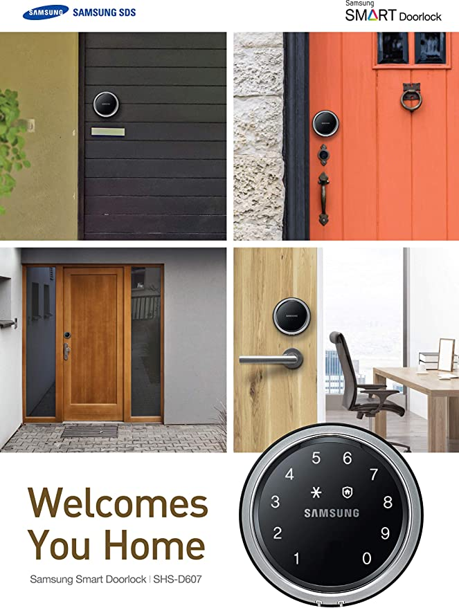 Samsung SHS-D607XMK Cerradura digital para puerta, SHS-D607, bloqueo de llanta, pantalla táctil, sin llave: Amazon.es: Bricolaje y herramientas