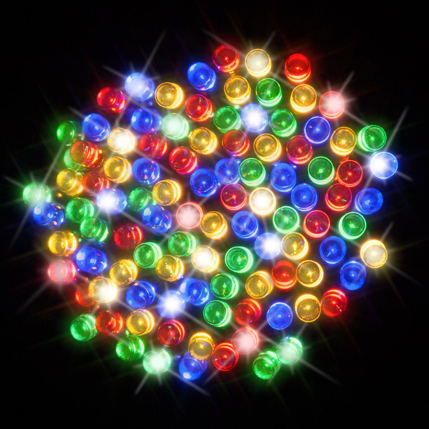 100 Multi Colour LED Solar Powered Fairy Lights - Waterproof Solar Decoration String Lights with Built-in Night Sensor - for Christmas, Outdoor, Garden, Fence, Patio, Yard, Walkway, Driveway, Shed, Garage, Path, Ornament, Stairs and Outside by SPV Lights: