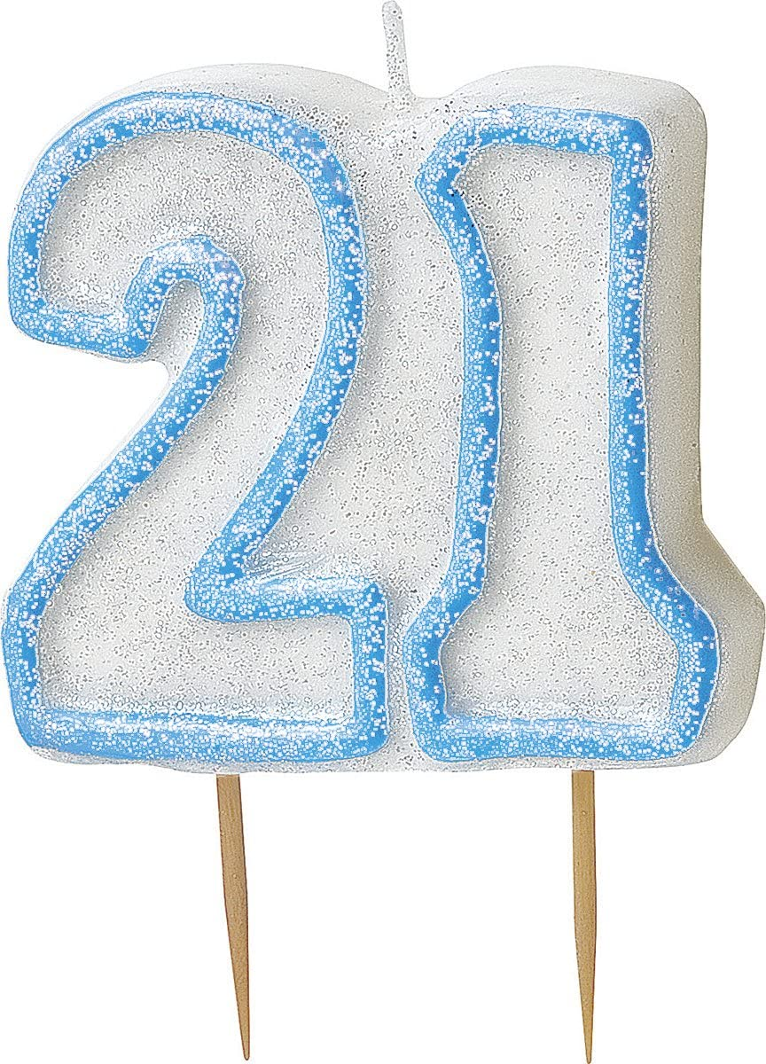 Glitz Blue Number 0 Candle Unique Party 37920