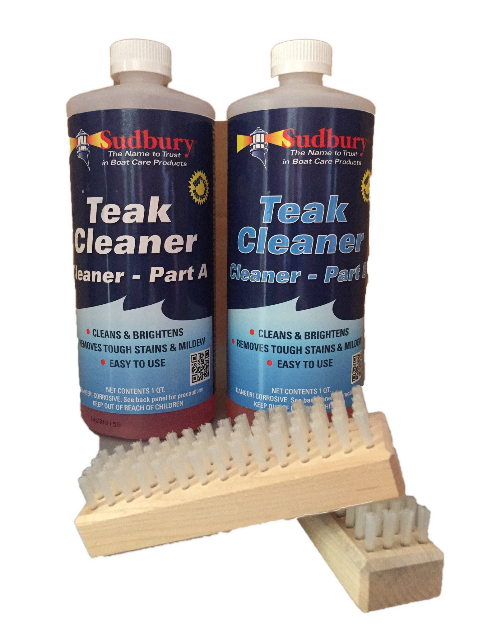 Sudbury 860KIT Teak Cleaner Kit - Part A and B with Brushes