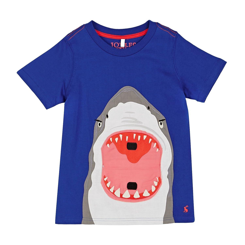 Joules Chomper Applique T-shirt Joules T-shirts Shark