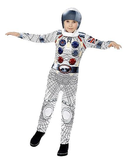 Smiffys - Disfraz deluxe astronauta con mono y casco de ...