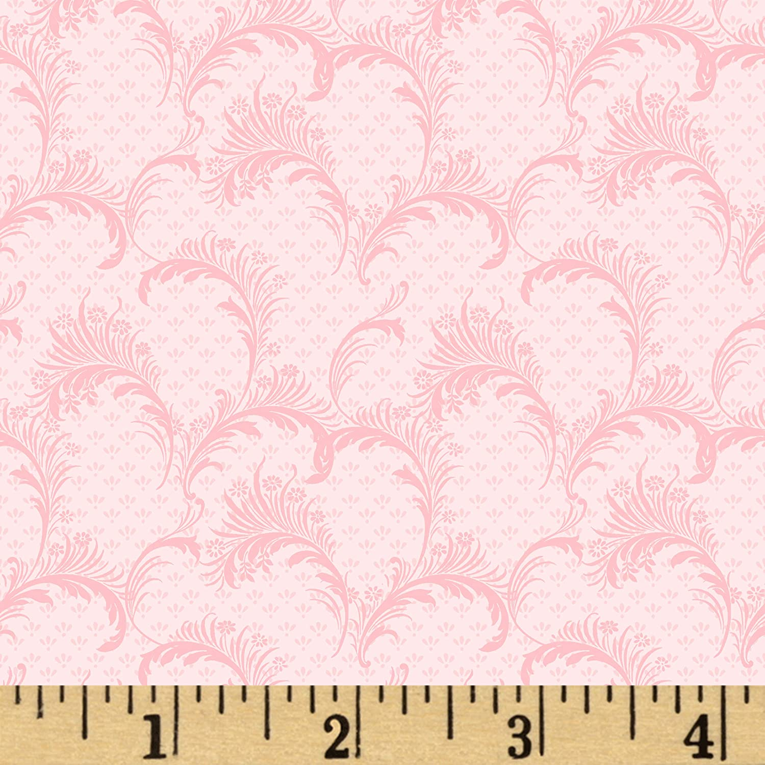 Wilmington Rhapsody In Reds Plumes Pink Quilt Fabric By The Yard